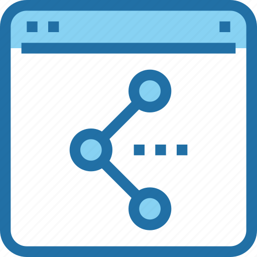 browser, interface, share, sharing, social media, ui, web icon