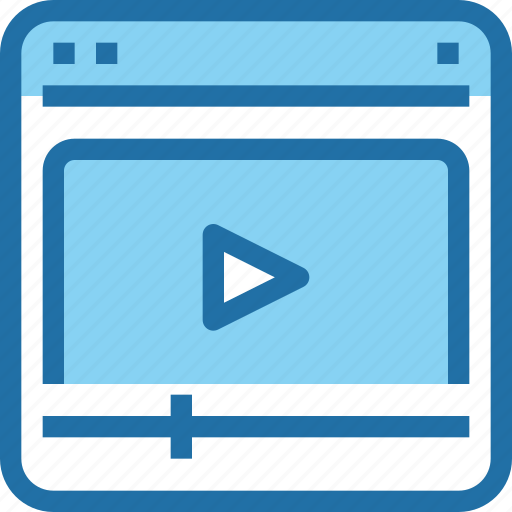 browser, interface, media, ui, video, web icon