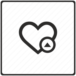 like, love, operation, position, up icon