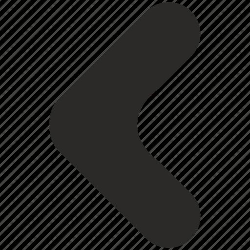 arrow, left, navigation icon