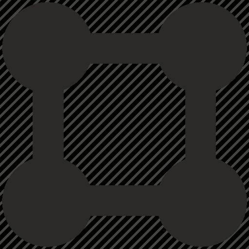dot, grid, scheme, square icon