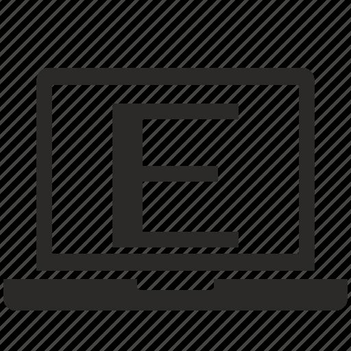 e, key, latin, letter, notebook icon