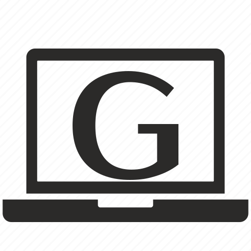 g, key, latin, letter, notebook icon