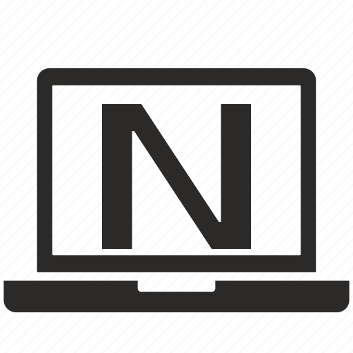key, latin, letter, n, notebook icon