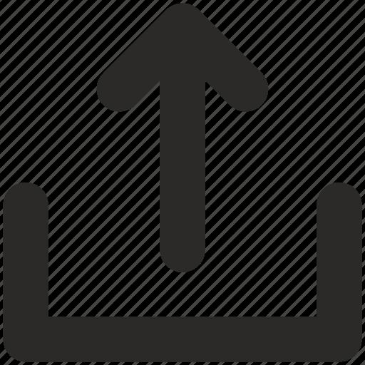 arrow, mail, outcome, upload icon