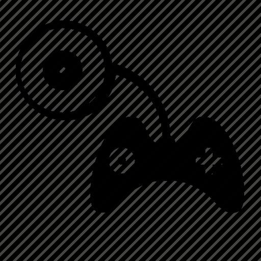 cd, control, disc, game, joystick icon