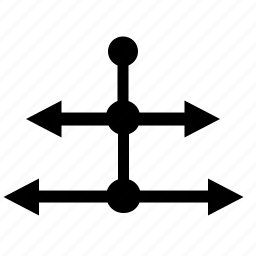 arrow, pointer, scheme, structure, ways icon