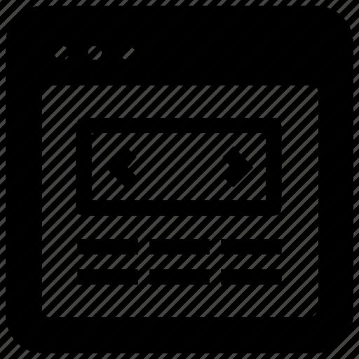 navigation, website icon