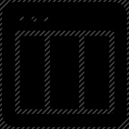 layout, website icon