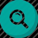 explore, find, loop, search icon