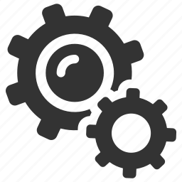 cogs, configuration, gears, preferences, productivity, settings, support icon