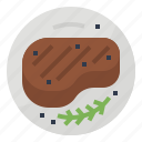 food, meal, meat, steak icon