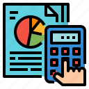analysis, calculate, graph, report icon