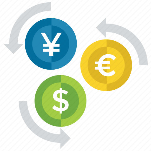 Currency Exchange Foreign International Money Converter Flow Icon
