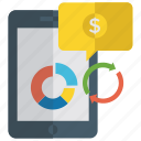 circle chart, donut chart, financial chart analysis, graphical representation, online analytics icon