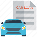 car lease, car loan, lease document, loan report, mortgage icon