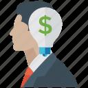 businessman, capitalist, entrepreneur, financer, investor icon