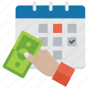 payment deadline, payment reminder, payment schedule, payroll, tax payment icon