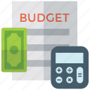 banking, budget report, business planning, financial statement, tax report icon