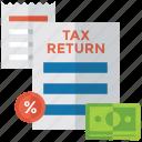 financial document, tax document, tax report, tax return, tax statement icon