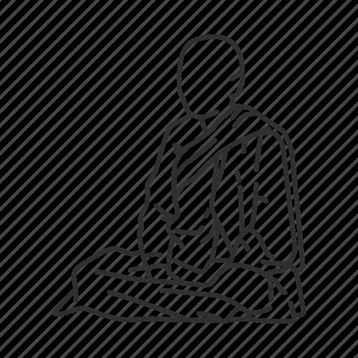buddhism, buddhist, menorah, monk icon