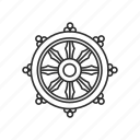 dharma, ship's wheel, wheel, wheel of dharma icon