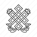 chinese art, endless knot, symbolic, twist icon