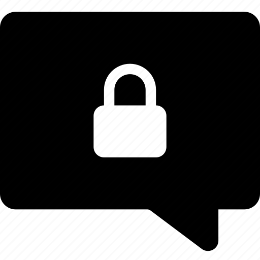 chat, lock icon