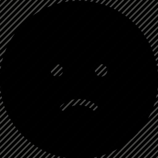 bad, chat, communication, interaction, message, sad, sticker icon