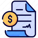 agreement, business, contract, document, dollar, money, proposal icon