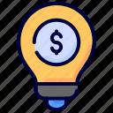 blub, business, finance, idea, investment, money icon