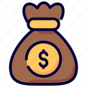 bag, dollar, money, moneysack, sack icon