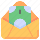cash, envelope, finance, mail, money, payment, salary icon