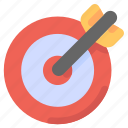 aim, arrow, business, darts, goal, strategy, target icon