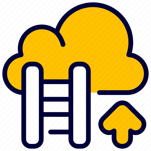business, career, cloud, growth, ladder icon