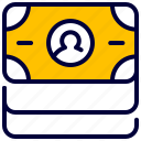 business, cash, finance, money, pack icon