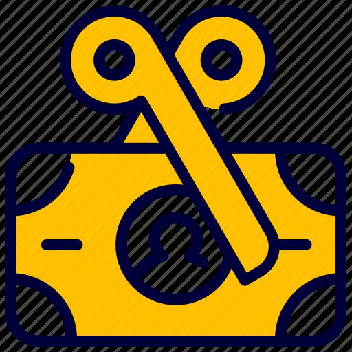 Cut, dollar, finance, money, scissor, tax, taxes icon - Download on Iconfinder