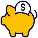 bank, coin, finance, money, pig, saving