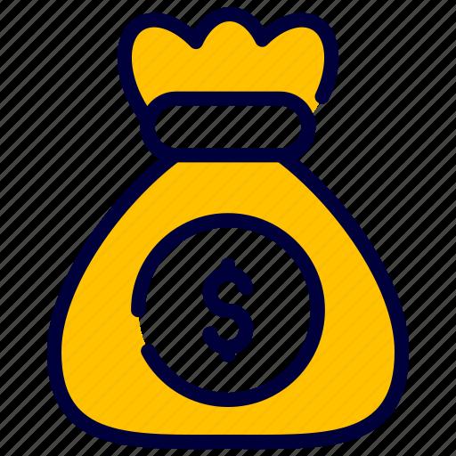 Bag, dollar, money, moneysack, sack icon - Download on Iconfinder