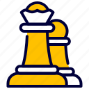 business, chess, figure, queen, strategy icon
