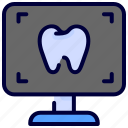 dental, medical, radiology, radioscopy, tooth, xray icon