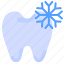 cold, pain, reaction, tooth icon