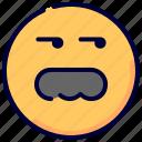 bad, emoji, emoticon, expression, father, suspicious, think icon