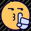 emoji, emoticon, feelings, silence, smile, smileys icon