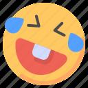 emoji, emoticon, feelings, laugh, laughing, smileys icon