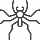 bug, jumping, spider icon