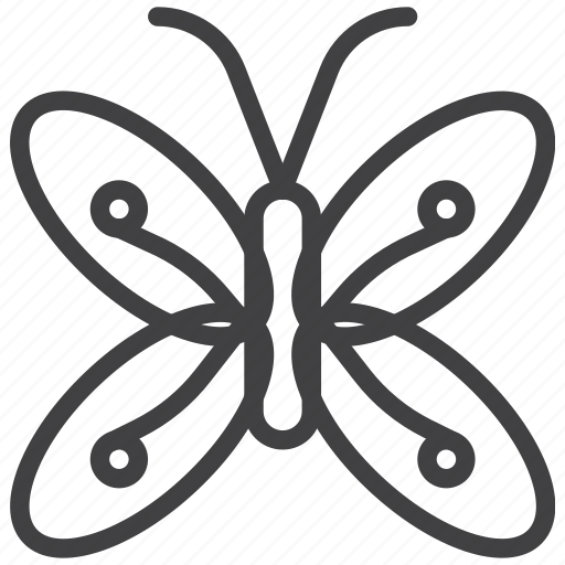 butterfly, dayfly, wing icon