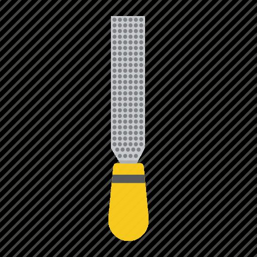 carpentry, construction, file, rasp, repair, tool icon