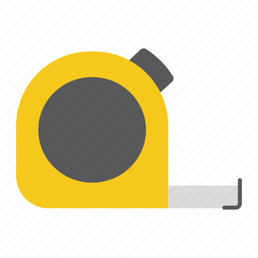 centimeter, construction, measure, repair, roulette, size, tape icon
