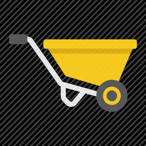 agriculture, barrow, build, carry, cart, garden, wheel icon